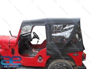 Stitched Soft Top Black & Gray For Jeeps Mahindra Cj340 Mahindra Classic ECs