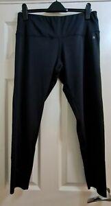 Womens Black Activewear Leggings Size 18 Next Back Pocket Used