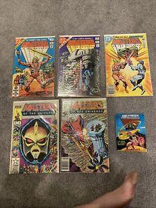 1982 LIMITED SERIES Run 1986 Masters Of The Universe 1 Star Comics lot Mini Motu
