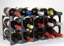 Cellarstak WINE RACK 52x24x23cm Holds 12/15-Bottles BLACK