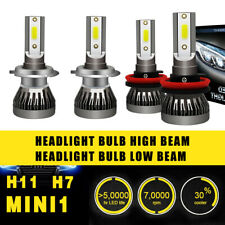 2Pair H7 H11 Headlight Coversion LED Bulb Kit High Beam White 6000K 97500LM 650W