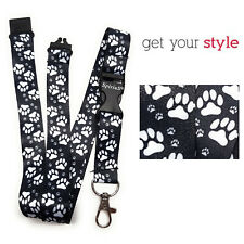 ANIMAL FEETS Long Lanyard As Neck Strap Holder for keys, badge, Id card- DOG CAT