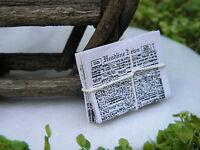 Miniature Dollhouse FAIRY GARDEN Accessories ~ Newspaper Bundle ~ NEW