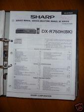 Manuel de service pour Sharp dx-r750h / HM Lecteur CD, ORIGINALE