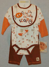 VITAMINS BABY HALLOWEEN 4 PIECES OUTFIT SIZE 6 MONTHS NEW WITH TAG