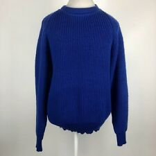 Vintage Towncraft Long Sleeve Crewneck Ribbed Sweater Blue Acrylic Mens Large