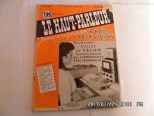 LE HAUT PARLEUR RADIO TELEVISION N°1037 15/03/1961 SALON COMPOSANTS ELEC    H20