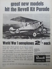 6/1964 PUB REVELL AUTHENTIC KITS WWI FOKKER D.VII GERMAN FIGHTER ORIGINAL AD