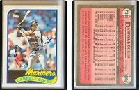 Darnell Coles Signed 1989 Topps #738 Card Seattle Mariners Auto Autograph
