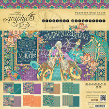 Graphic45 MIDNIGHT MASQUERADE 12x12 PAPER PAD scrapbooking 24 SHEETS