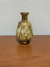 New ListingBlown glass art Bottle gold leaf and white decorative small