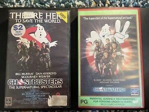 GHOSTBUSTERS I II 1 & 2 VHS BIG BOX RCA CLAMSHELL