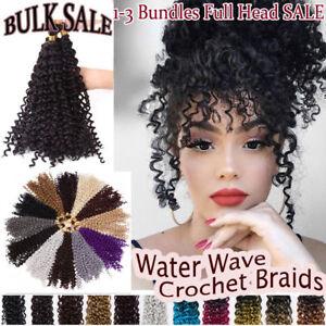 On Sale Full Head 3 Bundles Crochet Braiding Hair Extensions Deep Curly Human G5