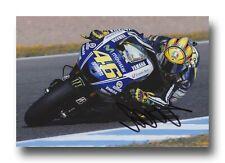 VALENTINO Rossi Firmato a Mano 12X8 foto-MotoGP Autografo-YAMAHA 2.