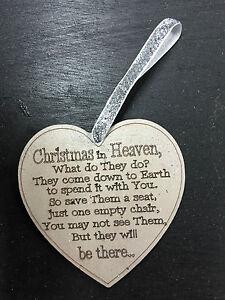 1 x   CHRISTMAS IN HEAVEN POEM ON HEART