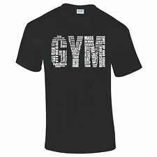 NEW MEN GYM TRAINER SPORTS T-SHIRT TOP SIZE S To 5XL