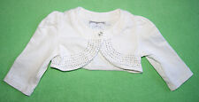 A Dee white bolero cardigan jacket with dots for girl 3-6 months 68cm Ariana Dee