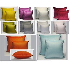 Plain Piped Velvet Cushion Covers Large or Standard