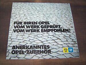 TOPRARITÄT Herrlicher Prestige Prospekt Opel Zubehör von 1973 !!!