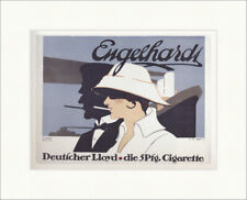 Engelhardt Deutscher Lloyd publicidad de cigarrillos visualización plakatwelt 1176 enmarcado