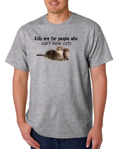 USA Made Bayside T-shirt Kids Are For People Who Can't Have Cats