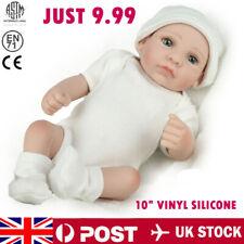10'' Newborn Doll Full Vinyl Silicone 26cm Reborn Baby Dolls Doll Lifelike Gifts