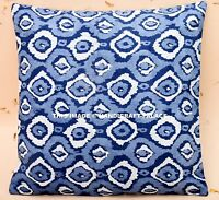 INDIAN CUSHION COVER PILLOW CASE KANTHA WORK ETHNIC THROW DECOR ART 16""