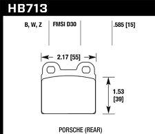 Disc Brake Pad Set-Base Rear Hawk Perf HB713W.585