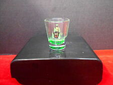 2016 KENTUCKY DERBY 142 1.5 oz  SHOT GLASS, CLEAR WITH EVENT LOGO IN BLACK/GREEN