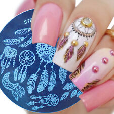 Nail Art Stamping Plate Image Decoration Dream catchers Feathers Tribe (Stz121)