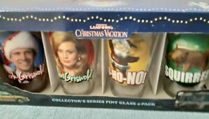 National Lampoon's Christmas Vacation Box Set 4 Pint Glasses New Collectible