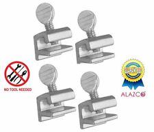 4pc Premium Alazco Home Security Sliding Window Lock - Tamper Resistant Extruded