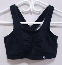 Lululemon Stealth Black Wave Sports Bra Size 8 Medium Athletic Cross Back