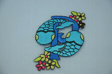 PISCES STAR SIGN HOROSCOPE Embroidered Sew Iron On Cloth Patch ZODIAC  APPLIQUE