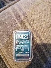 More details for 1oz 999 fine silver jm johnson matthew silver bar