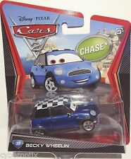 BECKY WHEELIN Chase Car Disney Pixar Cars Toy NEW Rare Sealed MOSC 2012