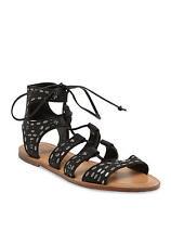 NIB Dolce Vita Jazzy Studded Sandals - Black Lace Up - Size 8.5