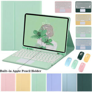 Keyboard With Touchpad Leather Case Cover For iPad Pro 12.9 inch 2021 2020 2018