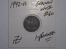 GERMAN COIN LOT #60 1942-A THIRD REICH NAZI 1 REICHSPFENNIG GERMANY WW2 COIN