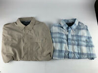 TWO Wrangler Mens Outdoor Vented Button Up Short Sleeve Shirt Size XL