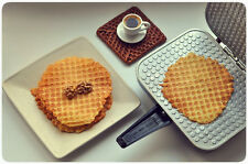 ELECTRIC WAFFLE MAKER. SQUARE IRON MAKER. NIB. Thin waffles. 220V