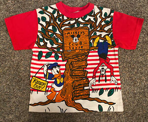 Vintage Disney Mickeys Club House Shirt Boys Size 5/6