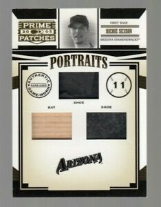 Richie Sexson 2005 Donruss Prime Patches Game Worn Shoe + Game Used Bat #040/150
