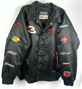 Chase Authentic Dale Earnhardt #3 NASCAR Winston Cup 7x Champion Black Jacket  L