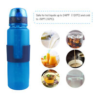 Collapsible Water Bottle Foldable Eco Leakproof  Portable For Hiking Travel Gym