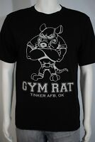 Men's SMALL Gym Rat Tinker AFB Air Force Base Oklahoma Black SS T-shirt