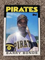1986 Topps Traded BARRY BONDS #11T Rookie RC ~ Sharp Hot Card!