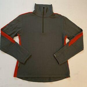Icebreaker Merino Women's Body Fit 260 1/4 Zip Pullover Medium Thumbholes EUC