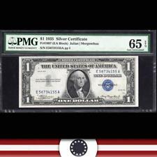1935 plain $1 Silver Certificate PMG 65 EPQ  Fr 1607 E-A Block   E56764155A