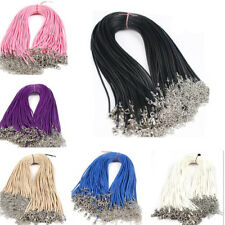 10 pcs Lots Charming Leather Cord Chain Necklace with Lobster Clasp Decoration